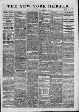 THE NEW YORK HERALD WHOLE NO. 8875. MORNING EDITION-WEDNESDAY, DECEMBER 26, I860. PRICE TWO CENTS. ARRIVAL OF THE ARIEL. Hews