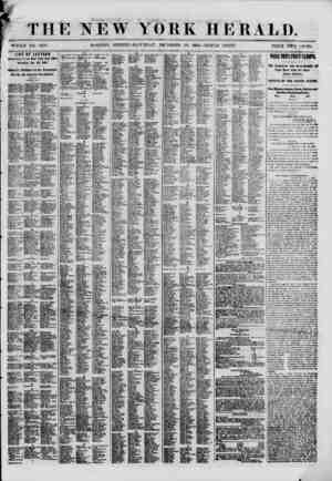 ' THE NEW YORK HERALD. WHOLE NO. 8878. MORNING EDITION-SATURDAY. DECEMBER 29, I860.?TRIPLE SHEET. PRICE TWO CEVTS. LIST OF