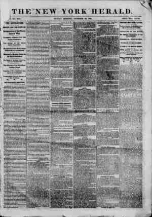 i THE NEW YORK HERALD. ? NO. 8879. SUNDAY MORNING, DECEMBER 30, 1860. PRICE TWO CENTS. ? TIE REVOLUTION. IMPORTANT NEWS FROM