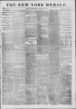 """THE NEW WHOLE NO. 8883. MORNING YORK HERAT. J) ?> EDITION?FRIDAY, JANUARY 4, 1861. PRIOR CW ) CRN"""". THE REVOLUTION. IMPORTANT"""