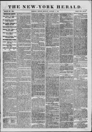 THE NEW.YORK HERALD. WHOLE NO. 8886. MORNING EDITION-MONDAY, JANUARY 7, 1861. PRICE TWO CENTS. HPORTABT FROM WAfflfflCTOH.