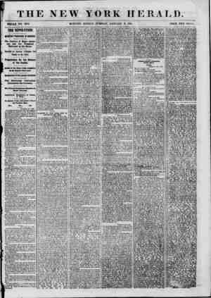 ?[ ' THE NEW Y ? WHOLE NO. 8887. MORNING EDITION TUESDAY, JANUARY 8, 18G1. PRICE TWO CENTS. the bevolution. MPORTANT...