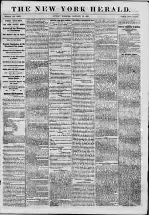 THE NEW YORK HERALD. WHOLR NO. 8892. SUNDAY MORNING, JANUARY 13, 1861. PRTCH TWO CENTS. THE CRISIS. THE VERY LATEST NEWS....