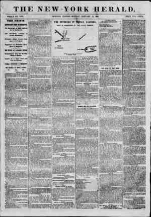 THE NEW YORK HERALD. ? ? i WHOLE MO. 8893. MORNING EDITION-MONDAY, JANUARY 1-1, 1861 PRICK TWO CMITS. THE CRISIS IMPORTANT