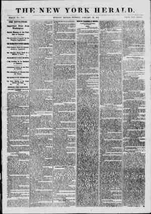 THE NEW YOEK HERAT,D. WHOLE NO. 80(18. MORNING EDITION?TUESDAY, JANUARY 29, 1801. PRICE TWO CENTS. THE REVOLUTION. Important