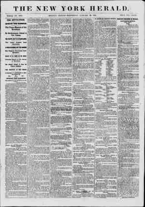 THE NEW YORK HERAT,J). WHOLE NO. 8009. MORNING EDITION?WEDNESDAY, JANUARY 30, 1861. PRICE TWO CENTS. THE REVOLUTION....