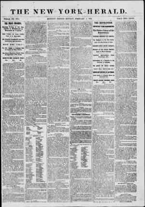 r THE NEW YORK WHOLE NO. 8911. . . MORNING EDITION-MONDAY, FEBRUARY HERALD. 4, 1861. PRICE TAVO CENTS. TOG PEACE COMiRESS.
