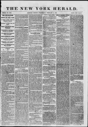 THE NEW YOKE HERALD. WHOLE NO. 8916. MORNING EDITION-WEDNESDAY, FEBRUARY 6. 1861. PRICE TWO OK.VTS. THE REVOLUTION. IMPORTANT