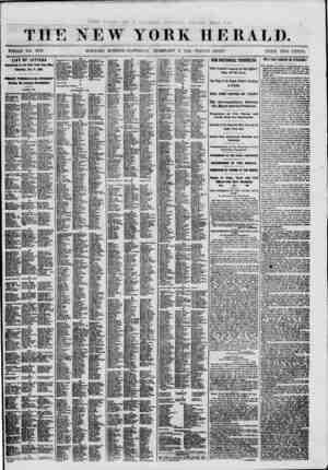 THE NEW YORK HERALD. . S ? , , ? , . ,.. ' WHOLE NO. 8919. * MORNING EDITION?SATURDAY, FEBRUARY 9. 180L-TRIPI-E SHEET. PRICE