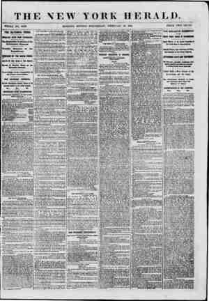 THE NEW YORK HERALD. WHOLE NO. 8923. MORNING EDITION-WEDNESDAY, FEBRUARY 13, 1861. PRICE TWO CENTS. THE NATIONAL CRISIS....