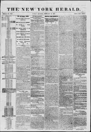 THE NEW YORK HERALD. ? ?? .?#* <yi. v*r * ,i*>- ' . ??> .? ' WHOLE NO. 8927. si NBAY MORNING, FEBRUARY IT, 1801. PRICE TWO