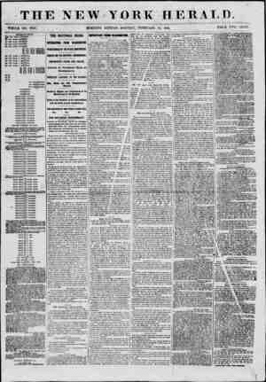 THE NEW YORK WHOLE NO. 8928. ? MORNING EDITION- MONDAY, FEBRUARY HERALD. THrtl PRICE rwo CENTS. jnnr?UiA3'?i'<,8< T)0 TOU...