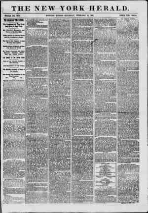 THE NEW YORK HERALD. WHOLE NO. 8931. MORNING EDITION-THURSDAY, FEBRUARY 21, 1861. PRICE TWO CENTS. THE HEADS OP THE NATION.