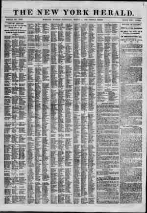 THE NEW YORK HERALD. (HOLE NO. 8940. MORNING EDITION-SATURDAY. MARCH 2, 1861.-TRIPLE SIIEET. PRICE TWO CENTS list of letters