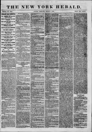 THE NEW YORK HERALD. WHOLE NO. 8941. SUNDAY MORNING, MARCH 3, 1801. PRICE TWO CENTS. IMTO&TMT FROM WASHINGTON. The Ontgoing