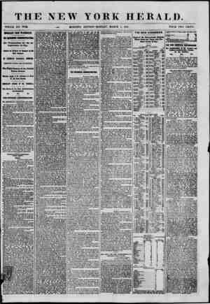THE NEW YORK HERALD. WHOLE NO. 894A ^ MORNING EDITION-MONDAY, MARCH 4, 1801. PRICE TWO CENTS. UPORTAHT FROM WASHUCTOI. HE...