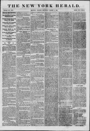 THE NEW YORK HERALD. WHOLE NO. 8945. MORNING EDITION?THURSDAY, MARCH 7, 1861. PRICE TWO CENTS. IMPORTANT FROM WMJUNOTON. The