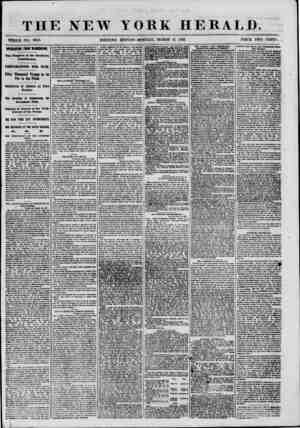 THE NEW YORK HERALD. WHOLE NO. 8949. MORNING EDITION-MONDAY, MARCH 11, 1861. PRICE TWO CENTS. aiEBESTHG ntoi VI8BD6T0I. The