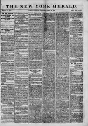 """THE NEW MORNING YORK HERALD. """"? EDITION-SATURDAY, MARCH 16, 1861. PRICE TWO CENTS. NEWS FROM WASMMTON. The Cabinet and Gen."""