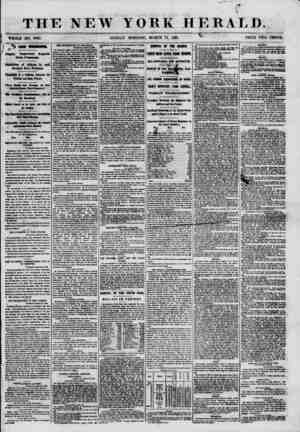 """THE NEW YORK HERALD. %. t - 1 ?"""" k, """""""" =-~? WHOLE NO. 8965. SUNDAY MORNING, MARCH 17, 1861. x PRICE TWO CENTS. *8 FROM..."""