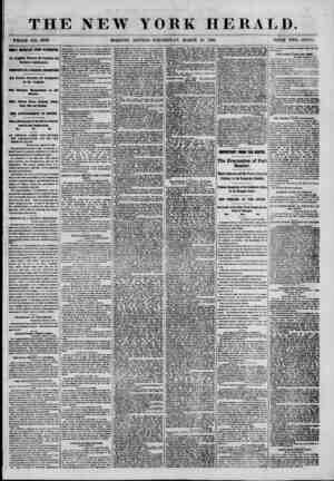 THE NEW YORK HERALD. WHOLE NO. 8958. MGHLY IMPORTANT FROM WASHINGTON. An Armistice Between the Northern and Southern...