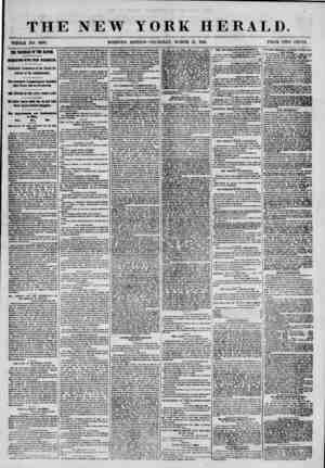 """THE NEW YORK HERALD. """"WHOLE NO. 8969. MORNING EDITION-THURSDAY, MAROH 21, 1861. PRICE TWO CENTS. TIE TROUBLES OF TIE 1ATIOE"""