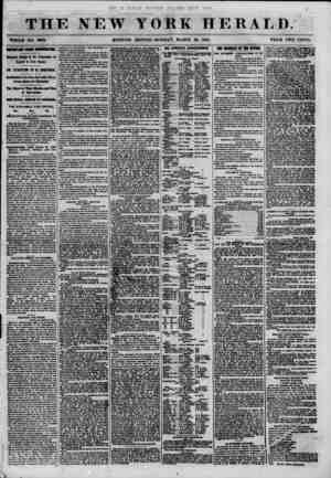 THE NEW WHOLE NO. 8963. MORNING YORK HERALD. EDITION? MONDAY, MARCH 26, 1861. PRICE TWO CENTS. IMPORTANT FROM WA8HIN8T0N,...