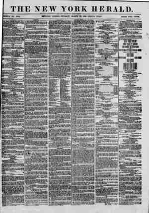 THE NEW YORK HERALD. ? a, - ' I ? ? , ? ? : rr? ? ? ? - WHOLE NO. 8964. MJJRNING EDITION? TIJESBAT, MARCH 26, 186L? TKIPLE