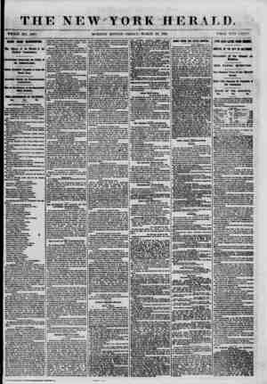 """THE NEW T ORE HERALD. WHOLE """"NO. 8967. """"MORNING -EDITION-FRIDAY, MARCH 29, 1861. PRICK TWO CKNTS. NEWS FROM WASHINGTON. tie"""