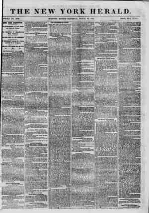 """THE NEW YORK HERALD. """"WHOLE NO. 8968. MORNING EDITION-SATURDAY, MARCH :?0, HOI. PRICE TWO OR VIS. '(ICWS FROM WASHMQTON...."""