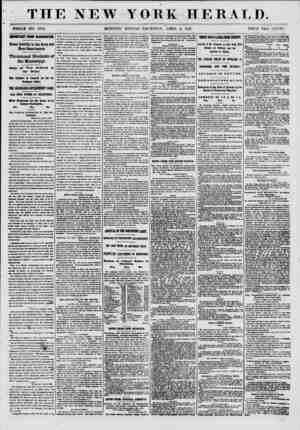 THE NEW WHOLE NO. 8973. MORNING YORK HERALD. EDITION-THURSDAY, APRIL 4, 1861. PRICE TWO CENTS. IMPORTANT FROM WASHINOTON....
