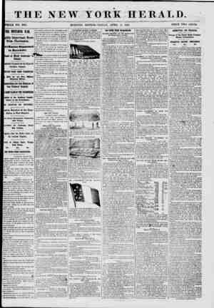 THE NEW YORK HERALD. TOOLE NO. 8981. MORNING EDITION?Fid DAY, APRIL 12, 1861. PRICE TWO CENTS. THE IMPENDING WAR. |ghly...