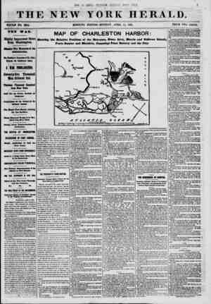 THE NEW YOKE HERALD. WHOLE NO. 8984. MORNING EDITION-MONDAY. APRIL 15, 1801. PRICE TWO CENTS. Highly Important News firom...