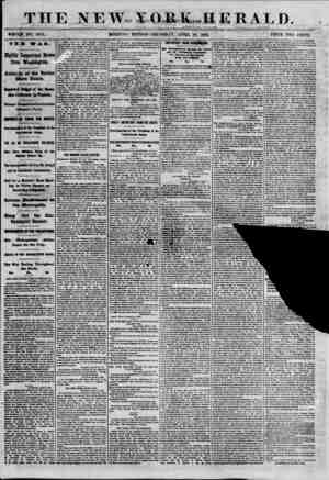 THE NEW Y O E K..H E R A L I). ?ineirrj ?i^a tmci'i/tw* WHOI? NO. tmi. MORNING EDITION- THrKSDAT. APRIL 18, 1861. PRICE TWO