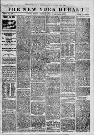 THE NEW WHOLE NO. 8093. MORNING EDITION YORK HERALD. WEDNESDAY, APRIL 24, 18G1.-TKIPLE SHEET. PRICE TWO CENTS. THE WAR....