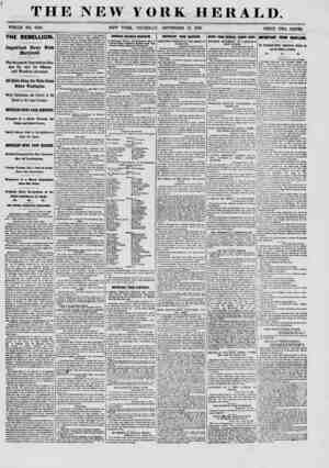TH WHOLE NO. 9140. THE REBELLION. Important News from Maryland. The Secession Legislature Broken Up, and Its Officers and...
