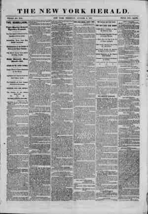 THE NEW YORK HERALD. WHOLE NO. 9151. NEW YORK, THURSDAY, OCTOBER 3, 1861. PRICE TWO CENTS. THE REBELLION Court Martial...