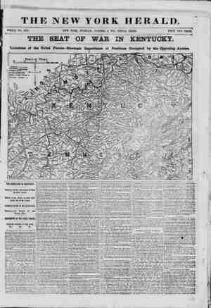 THE NEW YORK HERALD. WHOLE NO. 9159. NEW YORK, TUESDAY, OCTOBER 8, 1861.-TRIPLE SHEET. PRICE TWO CENTS. THE SEAT OP WAR IN