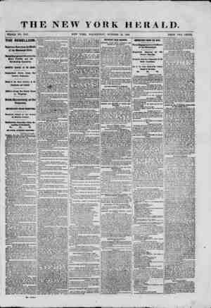 THE NEW YORK HERALD. ; WHOLE NO. 9167. NEW YOBK, WEDNESDAY, OCTOBER 16, 1861. PRICE TWO CENTS. THE REBELLION. Important News