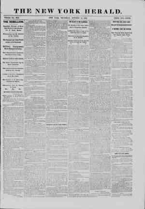 THE NEW YORK HERALD. WHOLE NO. 9168. NEW YORK, THURSDAY, OCTOBER 17, 18G1. PRICE TWO CENTS. THE REBELLION. Important Circular
