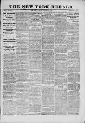 """THE NEW YORK HERALD. ?' /? """" """" ' J ' '' ^rTAT)fD <M ,QC1 PRICE TWO CENTS. WHOLE NO. 9172. NEW YORK, MONDAY, OCTOBER 21,..."""