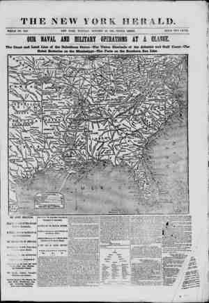 THE -NEW Y WHOLE NO. 9180. ORK HERALD. OCTOBER 29, 1861. -TRIPLE SHEET. PRICE TWO CENTS. OCR NAVAL AMD MILITARY OPERATIONS AT