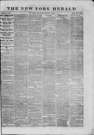 . THE NEW YORK HERALD. WHOLE NO. 9181. NEW YORK, WEDNESDAY, OCTOBER 30, 18G1. PRICE TWO CENTS. THE REBELLION. Important News