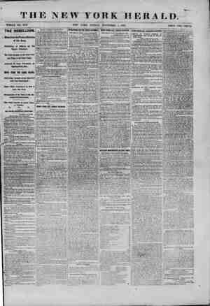 THE NEW YORK HERALD. WHOLE NO. 9183. NEW YORK, FRIDAY, NOVEMBER 1, 1861. PRICE TWO CENTS. THE REBELLION. News from the...