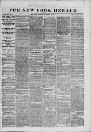 THE NEW YORK HERALD. WHOLE NO. 9185. NEW YORK, SUNDAY, NOVEMBER 3, 1861. PRICE THREE CENTS. THE REBELLION. Vevs from the...