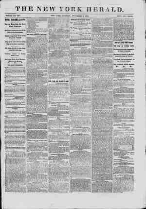 f r W YORK HERALD. WHOLE NO. 9187. NEW YORK, TUESDAY, NOVEMBER 5, 1801. PRICE TWO CENTS. THE REBELLION. % Reports Respecting