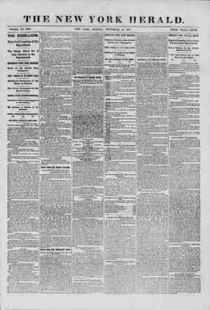 THE NEW YORK HERALD. THE REBELLION.! Reported Landing of the Expedition. The Rebels Driven Out of their Batteries on the...