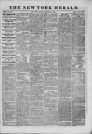 THE NEW YORK HERALD. WHOLE NO. 9103. NEW YORK, MONDAY, NOVEMBER 11, 1861. PRICE TWO CENTS. THE REBELLION. THE GREAT...