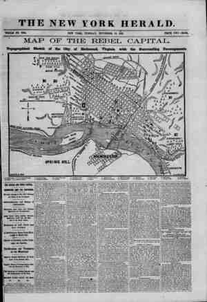 THE NEW YORK HERALD. . \ WHOLE NO. 9194. NEW YORK, TUESDAY, NOVEMBER 12, 186L PRICE TWO CENTS. MAP OF THE REBEL CAPITAL....