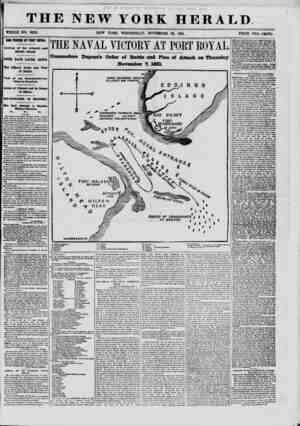 THE NEW YORK HERALD WHOLE NO. 9202. NEW YORK, WEDNESDAY, NOVEMBER 20, 1861. PRICE TWO CENTS. OUR FORCES AT PORT ROYAL Arrival